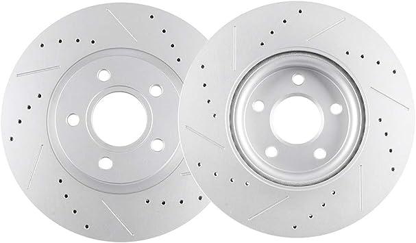 Rear Rotors w//Ceramic Pads OE Brakes 2006-2011 C70 S40 V50 Front