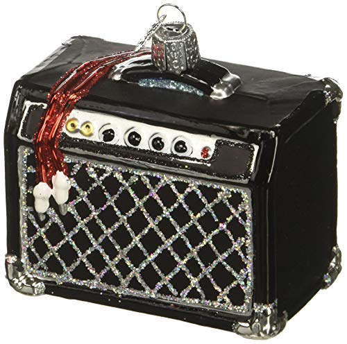 Old World Christmas Glass Blown Ornament Guitar Amp (38047)