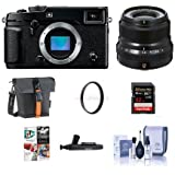 Fujifilm X-Pro2 Mirrorless Digital Camera Body with Fujinon XF 23mm (35mm) F/2R WR Lens, Black - Bundle with Holster Case, 32GB SDHC Card, 43mm UV Filter, Cleaning Kit, Lenspen Cleaner, Software Pack