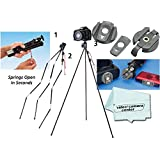 Tamrac TR404 ZipShot® Mini Tripod - Black + Tamrac A120 Zipshot Camera Quick-Release Accessory Kit