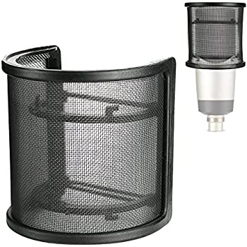 youshares mic pop filter windscreen microphone wind screen mask shield with. Black Bedroom Furniture Sets. Home Design Ideas