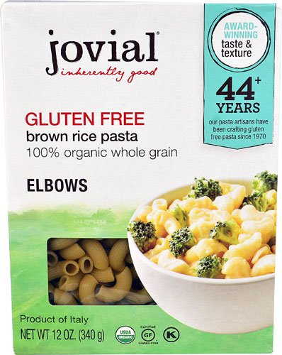 Brown Rice Pasta Elbow (Jovial Gluten Free Brown Rice Pasta Elbows -- 12 oz - 2PC)