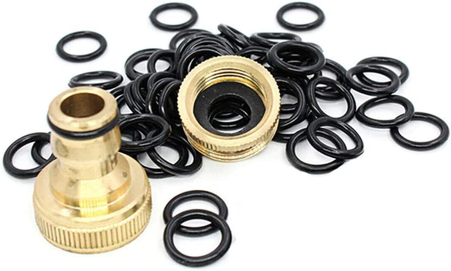 Lecimo 50 Pcs Power Pressure Washer Wands Hoses O-Rings M22 Quick Connect Coupler Set