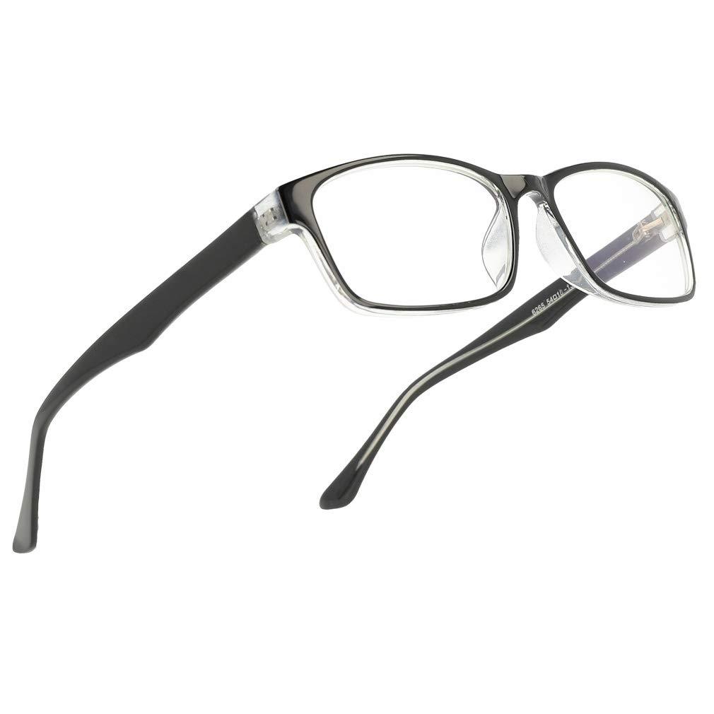 Blue Light Blocking Computer Gaming Glasses Anti Glare UV Protection Rectangle Eyeglasses By Magic Jing For Men And Women light amber)
