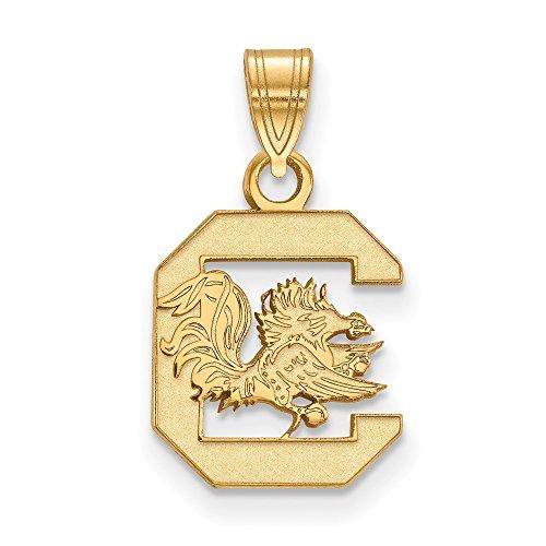 10k Yellow Gold University of South Carolina Gamecocks Cocky Mascot Pendant S - (13 mm x 11 mm)