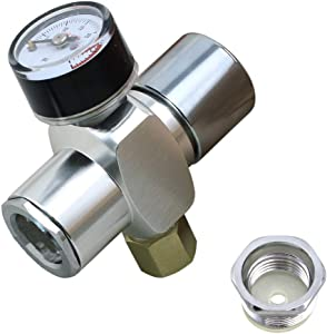 Micro CO2 Mini Regulator Keg Charger for Threaded Cartridges (0-30 PSI)