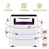 Indoor Mosquitos Trap, ALED LIGHT Flying Insects Killer Electronic Mosquito Trap Lamp Poison-Free Bugs Zappers Effective and Intelligent Mosquitos Catcher Non-toxic Non-Chemical, Pets and Humans friendly