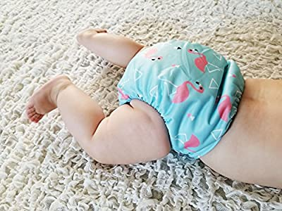 3 Pack 6 Bamboo Terry Inserts Adjustable Cloth Pocket Diaper Boy Girl Baby Toddler Breathable Reusable Washable Leolamb