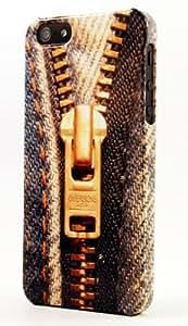 Blue Jeans Denim Zipper Dimensional Case Fits iPhone 4 or iPhone 4s