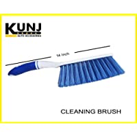 Kunj Autotech - Plastic Car Cleaning Brush with Hard and Long Bristles - for Seat/Carpet/Mats