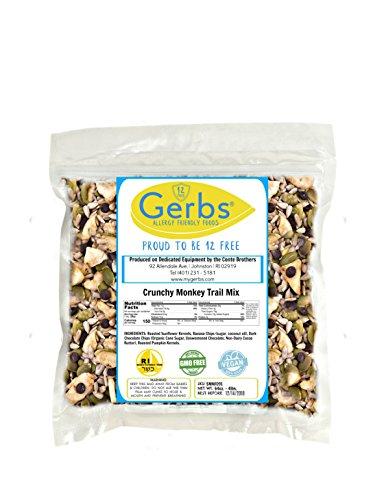 Crunchy Monkey Snack Mix, 4 LBS By Gerbs - Top 12 Food Allergy Free & NON GMO - Vegan & Kosher (Dark Chocolate Chips, Sweet Banana Chips, Pumpkin & Sunflower Seed Kernels)