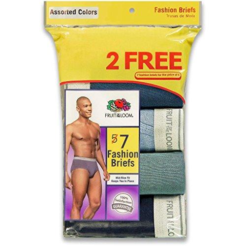 Fruit of the Loom Men's 7Pack Assorted Briefs Underwear, M