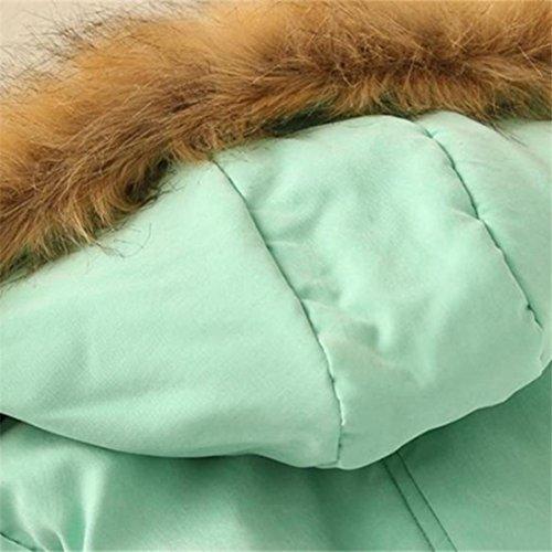 Coats Chaude Winter Fourrure Collier Parka Vert Fourrure Capuche Femmes Slim Outwear Tefamore Veste qwPZC1tS