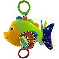 Hudue 0-3 Year Old Baby Early Development Multifunction Stroller Sound Fish Toys