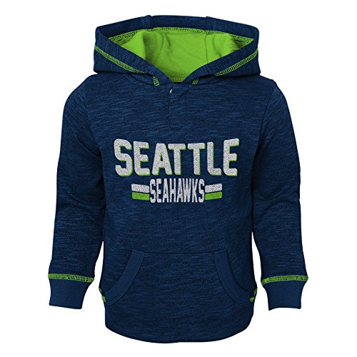 Outerstuff NFL Seattle Seahawks Toddler Tiny Linemen Slub Fleece Hoodie, Dark Navy, 4T