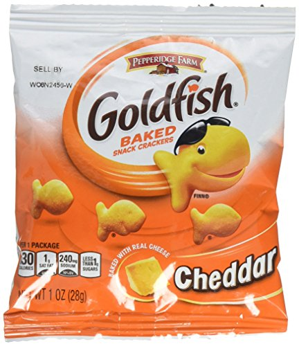 (Pepperidge Farm Cheddar Goldfish Crackers, 1 Ounce, Pack of 45)