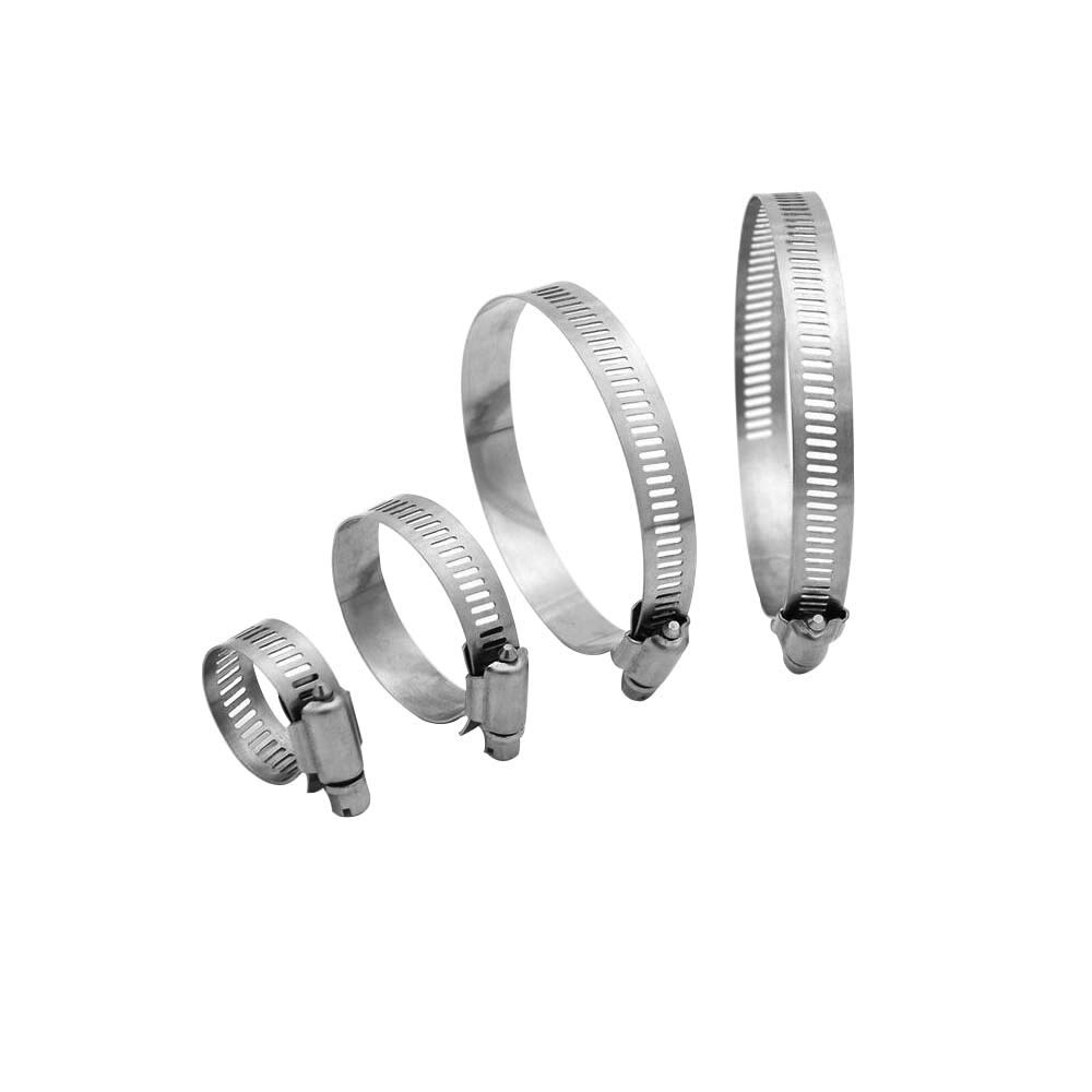 304 Stainless Steel Adjustable 21-38MM Range Worm Gear Hose Clamps/£/¬Fuel Line Clamp for Water Pipe Plumbing Automotive and Mechanical Application 10PCS