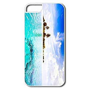 IPhone 5 5S Shell, Maldives Island White Covers For IPhone 5 5S