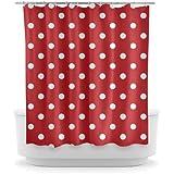 Opima Red Polka Dot Shower Curtain