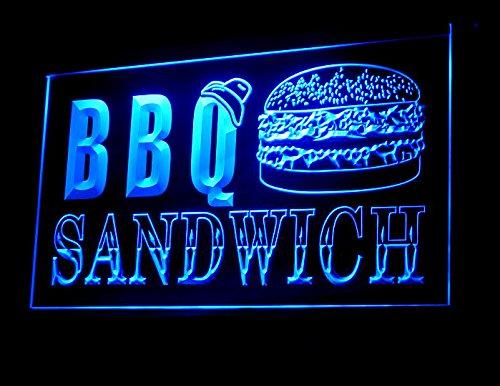 BBQ Burger Sandwich Led Light Sign