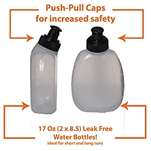 2x 8.5 oz BPA Free Water Bottles for the Runtasty Running Hydration Belt w/Touch Screen Cover! Full compatibility with most Running Fuel Belts and Fanny Packs on the Market!
