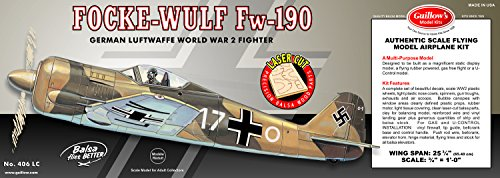 Guillow's Focke-Wulf FW-190 Laser Cut Model Kit by Guillow (Image #1)