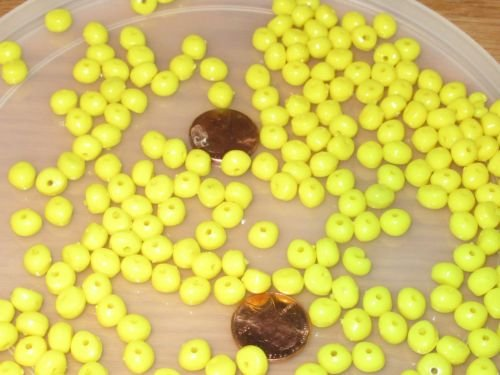 New 250 SMALL YELLOW CORN FISHING BULK BEADS FLOUNDER CARP TROUT RIG BEAD FISH RIGS by New