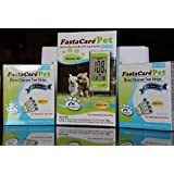 3-in-1 FastaCare Pet Blood Glucose Monitoring System - Starter Kit + 2 Box of Test Strip Combo Pack.