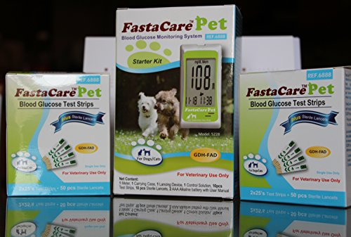 FastaCare 3-in-1 Pet Blood Glucose Monitoring System - Start
