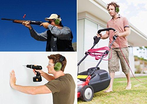 FRiEQ 37 dB NRR Sound Technology Safety Ear Muffs with LRPu Foam for Shooting, Music & Yard Work, Green by FRiEQ (Image #4)