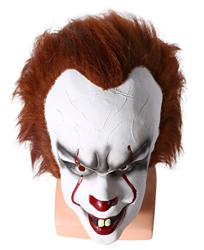 Halloween Clown Mask Full Face Soft Latex Helmet