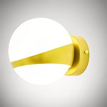 Modern Creative Ball Wandleuchte Minimalistischen Wohn  Schlafzimmer Bett  Zimmer Lampenschirm Aus Glas Wandleuchte Gang Goldene