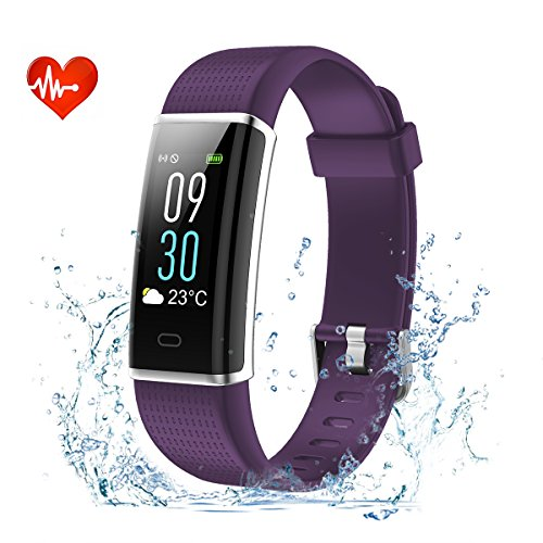 Fitness Tracker, EFOSHM Color Screen Activity Tracker with Heart Rate, Multi Sports Smart Wristband with Sleep Monitor, Waterproof Smart Watch with Step/Calorie / Distance Counter for iOS/Android by EFOSHM