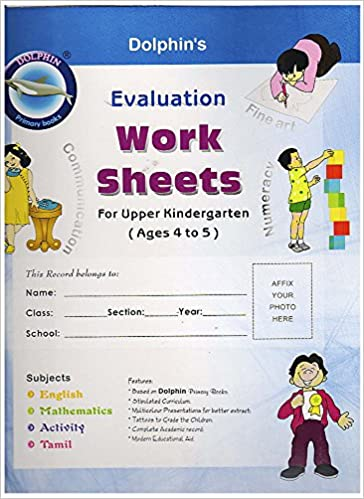 Buy Evaluation Work Sheets - English & Tamil (Age group - 4