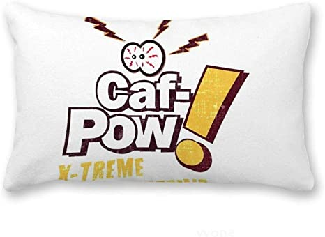 Amazon Com Yyone Lumbar Accent Pillow Cover Ncis Caf Pow X Treme Caffeine Decorative Long Oblong Thow Pillow Case Cushion Cover Pillowcase 12x20 Inches Home Kitchen