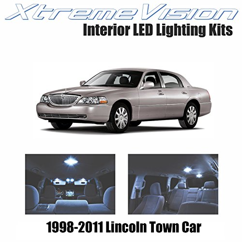 - XtremeVision Interior LED for Lincoln Town Car 1998-2011 (10 Pieces) Cool White Interior LED Kit + Installation Tool