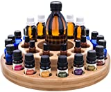 Essential Oil Wooden Storage Carousel | Premium Container Case Organizer Box Tray for Assortments and Blends - Perfectly Holds 10ml, 15ml, 30ml, 1/3oz, 1/2oz, 1oz, Roller Bottles for Mineral, Anxiety