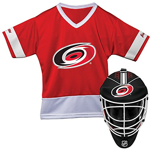 (Franklin Sports Carolina Hurricanes Kid's Hockey Costume Set - Youth Jersey & Goalie Mask - Halloween Fan Outfit - NHL Official Licensed Product )