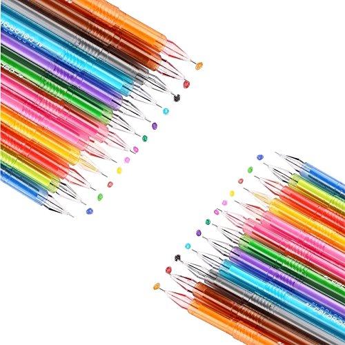 Fashionclubs 24pcs/set Ultra Fine Ballpoint Fresh Star Diamond Color Gel Pens