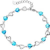 Anson&Hailey Sterling Silver Zirconia Love and protection bracelet for women gift Friendship Gifts,Sister Gift Jewelry
