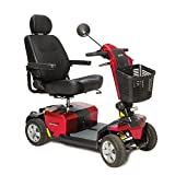 Pride Mobility - Victory 10 LX with CTS Suspension - Full-Sized Scooter - 4-Wheel - Red - PHILLIPS POWER PACKAGE TM - TO $500 VALUE