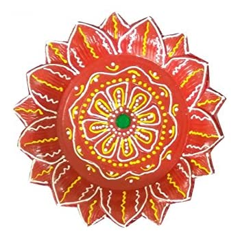 amazon com craft art india handmade rangoli design earthen clay