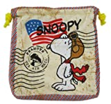 Air Mail Snoopy Drawstring Marbles Travel Bag/Pouch offers