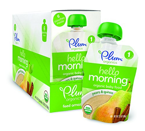 Plum Organics Hello Morning Cereal, Pears and Quinoa, 3.5 Ounce (Pack of 12)