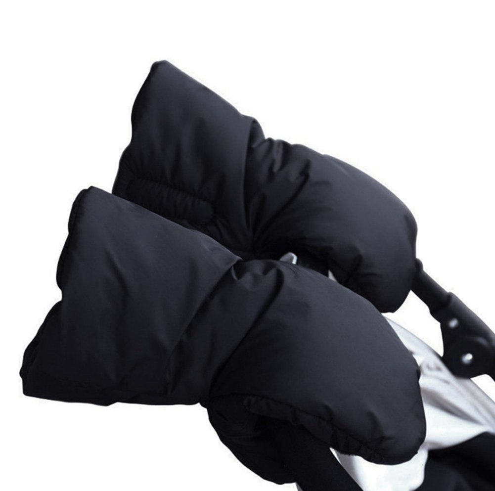 A pair of Pushchair gloves in fleece - Stroller Hand Muff, waterproof and anti-freeze Hand Muff, warm and comfortable -- an indispensable gift for moms in the winter Beauty DIY Mart