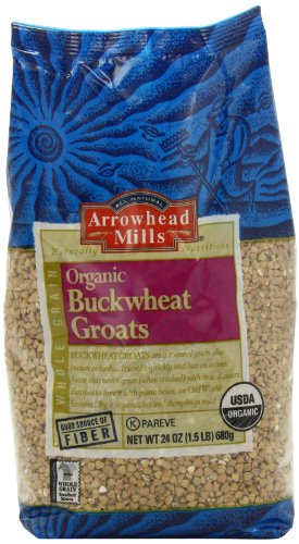 Arrowhead Mills Organic Buckwheat Groats, 24-Ounce Bags (Pack of 4)