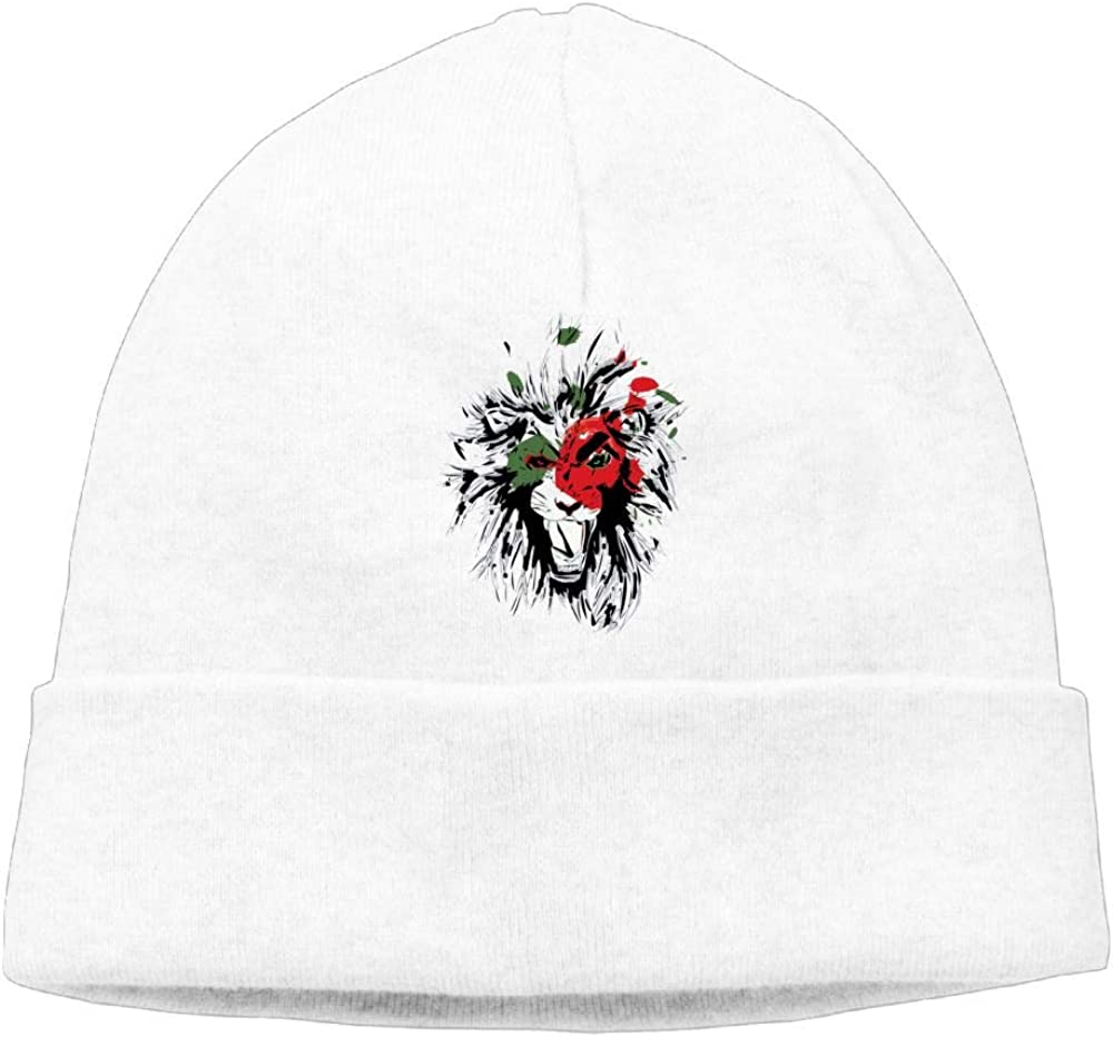 Oopp Jfhg Terrible Lion Beanie Knit Hats Skull Caps Mens White