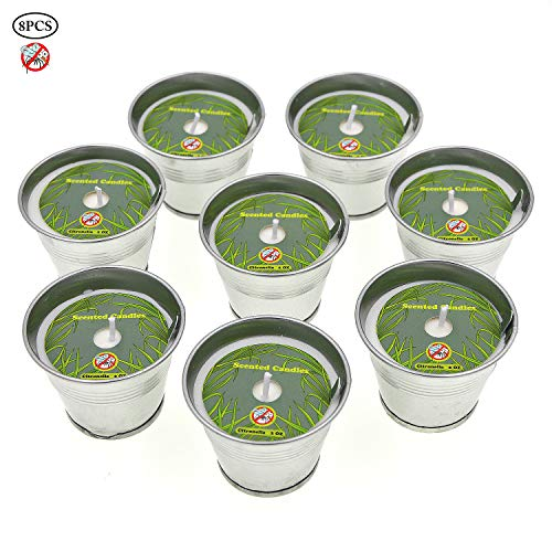 Allwindeals Citronella Candles, Natural Soy Wax Scented Candles with Citronella Essential Oil 2 Oz Unit Portable Bucket Candles -Mosquito, Bug Repellent for Outdoor and Indoor Use -8 Pack ()