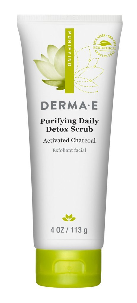 DERMA E Purifying Daily Detox Scrub With Marine Algae and Activated Charcoal, 4 oz