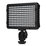 CRAPHY 176 LED PT-176S Ultra Compact Photography On Camera Video Light with Dimmable High Power Panel and Filters for Canon Nikon Pentax JVC SLR DV Camcorder